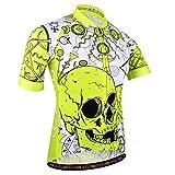 BXIO - Camiseta de Ciclismo para Hombre, con 3 Bolsillos Traseros elásticos con Banda Reflectante para Seguridad, Cremallera Completa y Tira Antideslizante para Mangas Cortas (186(Jerseys Only), XL)