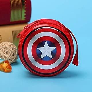 Nau Mart Multicolour Cute Avengers Prints Metal Tin Case/Pouch/Box, Pack of 2