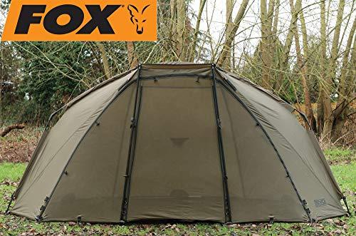 FOX Eco Compact 300x165x125cm - Brolly zum Karpfenangeln, Angelschirm zum Angeln auf Karpfen & Waller, Angelzelt, Karpfenzelt