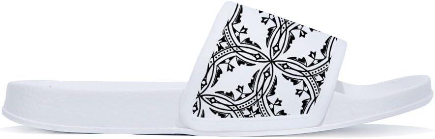 ANDER Geometric Pattern New Home Floor Slipper Women Summer Cool Breathable Non-slip Flip Flops