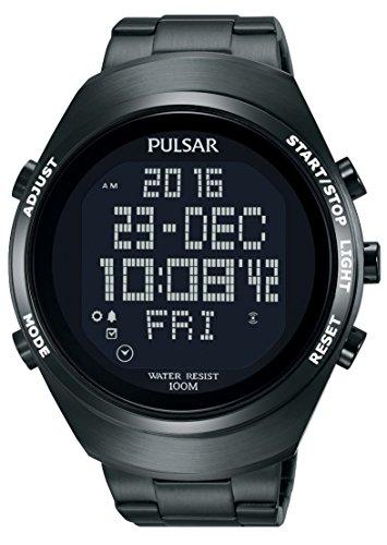 Pulsar Sport Herren-Uhr Chronograph Edelstahl mit Metallband PQ2057X1