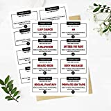 Naughty Coupons Cards, Valentines, Anniversary, Birthday Gifts for Him, Her, Boyfriend, Girlfriend, Sex Coupon, Kinky Gift, Naughty Gift