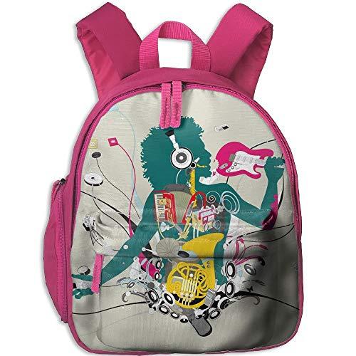Music Student Backpack School Bag Super Bookbag