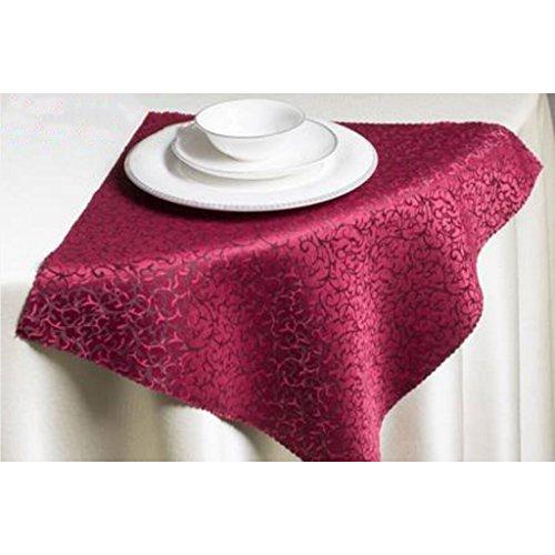 MXJ61 Hôtel Mouth Tissu Pliant Fleurs Serviette Napperon Essuyer La Coupe 48 * 48cm (Couleur : Rouge, Taille : 10 Pcs/Set)