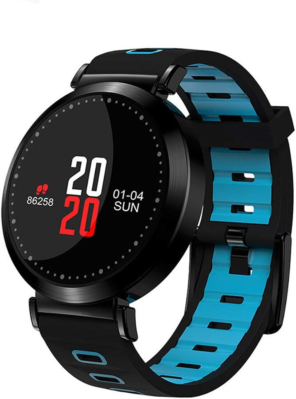 ELFL Fitness-Tracker, Herzfrequenz-Blautdruckmessgert, Kalorienzhler Schlafüberwachung IP67 wasserdichter Wecker, für Android und iOS,Blau