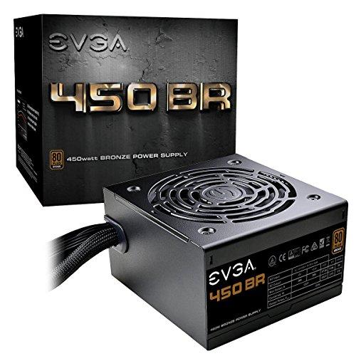 EVGA 450 BR unité d'alimentation d'énergie 450 W ATX Noir - Unités d'alimentation d'énergie (450 W, 100 - 240 V, 50 - 60 Hz, 8 A, 120 W, 450 W)