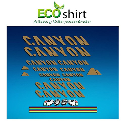 Ecoshirt XA-HQGS-33AL Aufkleber Canyon Bike Sticker Decals Sticker Frame