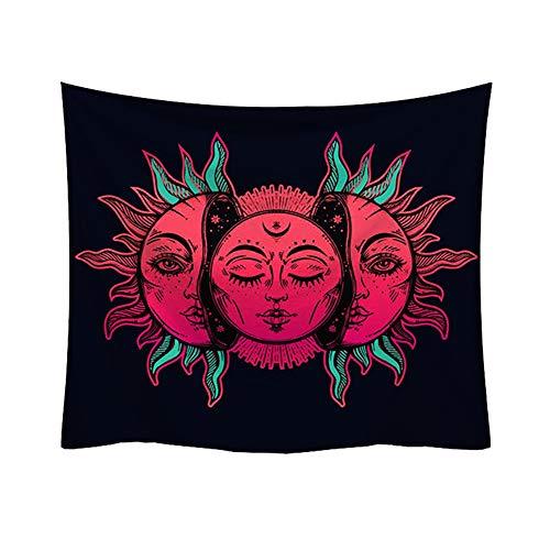 CAheadY Mandala-hängender Teppich-Tapisserie-Matten-Deckendecketeppich-Strand-Tuch-Ausgangs-Bett-Tröster-Picknick-Strand-Bunte Wohnzimmer-Dekor-dekorativer Vorhang 1