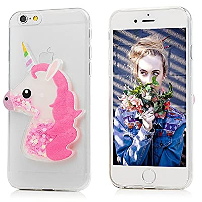 iPhone 6 Case, iPhone 6S Case, YOKIRIN Luxury Sparkle Powder 3D Diamond Paillette Bling Slim Glitter Flexible Soft Rubber Gel TPU Protective Shell Hybrid Bumper Case Cover -
