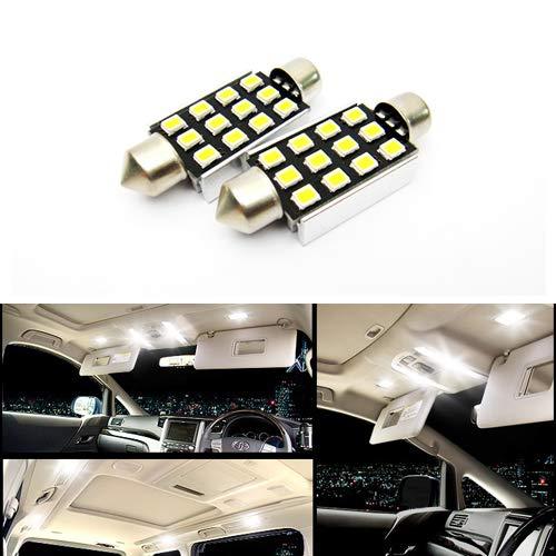 2 x Blanc 264 265 578 C5 W 42 mm Ampoule Navette CANBUS Samsung 12 LED Éclairage intérieur carte de dôme Courtois lumière