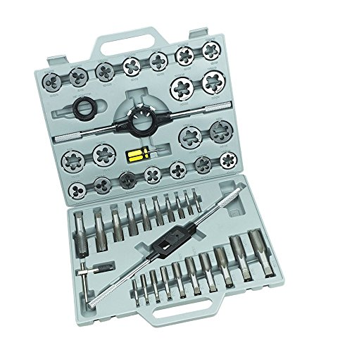MCTECH 45 pcs Tap and Die Set Tap & Die Threading Kit M6 M8 M10 M12 M13 M14 M16 M17 M18 M20 M24 Tungsten Steel With Storage Case
