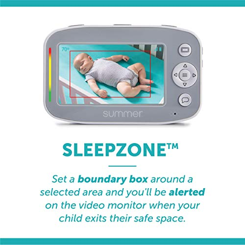 Image of Summer Baby Pixel Cadet Video Baby Monitor with 4.3-Inch Color Display, Remote Steering Camera  Baby Video Monitor with Clearer Nighttime Views and SleepZone Boundary Alerts