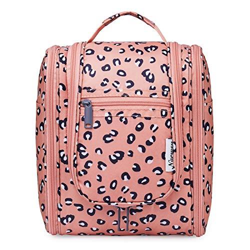 Hanging Travel Toiletry Bag Cosmetic Make up Organizer for Women and Men (Orange Leopard (Medium))