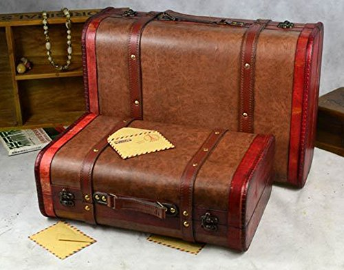 SOMNUS258 2個set 激安 トランクケース 小型 ミニ アンティーク トランクケース レトロ かわいい やすい スーツケース 超軽量 小型 人気 静音 かわいい トラベルトランク ヨーロッパ風 クラシックスタイル 旅行 出張 収納 写真 道具 部屋飾り アンティーク 雑貨 レトロ 旅行 便利 グッズ