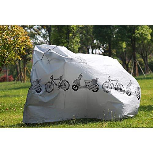 KLAS REMO Fahrradabdeckung wasserdicht Fahrradplane Fahrradhüllen Fahrradschutz Hülle Fahrrad Cover Bike Anti-Staub Abdeckung Hülle für Fahrrad Mountainbike schwarz grau - 5