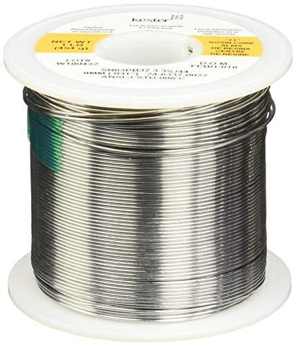 Kester 24-6337-0027 Solder Roll, Core Size 66, 63/37 Alloy, 0.031