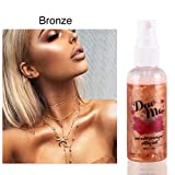 Oyalaiy Body Highlighter Makeup Setting Spray Rose Water Priming Moisturizing Pearlescent Liquid...