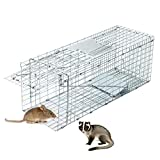 CO-Z 捕獲器 動物用 アニマルトラップ 捕獲かご 捕りワナ アニマルキャッチャー 動物キャッチャー 猫保護 踏板式 中小動物 害獣駆除 農業/作物保護 簡単組立・設置 (66*25*26.5cm)