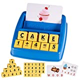 Kearui Learning Toys for 3-8 Year Olds, Matching Letter Games for Kids, Educational Toys for Kids 5-7, Preschool Educational Spelling Counting Game, Birthday Gifts for Boys Age 3-8 (Blue)