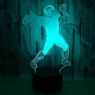Lampe de table Lampe Jouer Lampe de rugby LED Lampe Colorful Gradient 3D Stéréoscopique Touch Remote USB Nuit Lumière Crea...