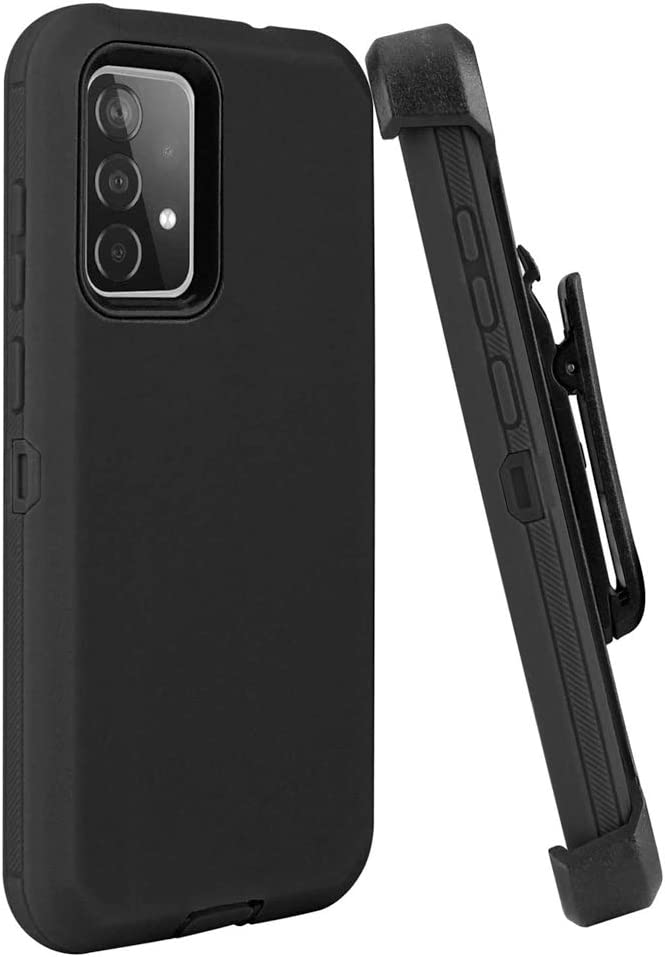Not application YYSHO for Galaxy A52 5G Case, Shock Absorption Anti Scratch Case Shockproof Full Body Protection with Belt Clip and Kickstand for Samsung Galaxy A52 5G 6.5 inch (Black)