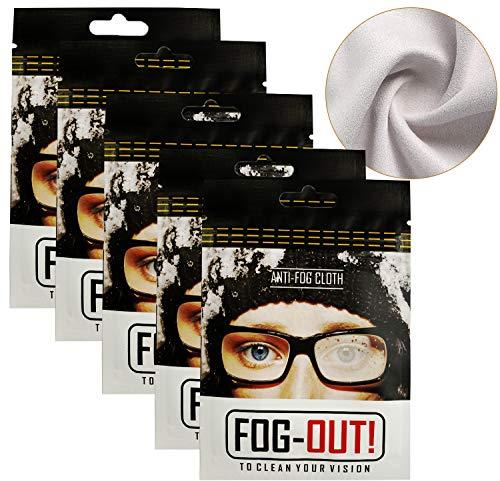 AFXMATE Anti-Beschlag-Reinigungstücher, Mikrofaser-Reinigungstücher, Objektiv-Reinigungstücher, wiederverwendbare Reinigungstücher für Brillen, Tablets, Kamera-Objektive, Bildschirme (5 Stück)