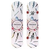 GCJJ-HSY Skateboard Estándar De 7-SART Pendientes Canadá, Patineta 31 Pulgadas Patinaje Completo Patineta Doble Patineta, Adecuada para Niños Y Principiantes (Plumas)