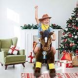PonyCycle ® Boutique Officielle Jouet Prime K Série - Balade sur Cheval Brun Chocolat Medium K45