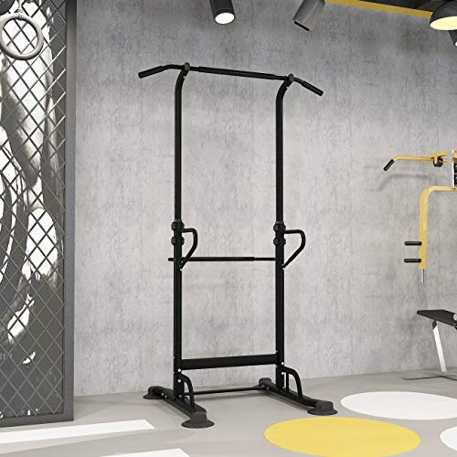 DlandHome Power Tower Adjustable Height Pull Up Bars Dip Station Home Strength Training Fitness Workout Station, PSBB002-P-DCA
