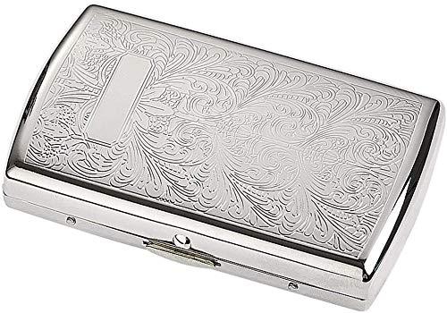 Caja de cigarrillos Caja de cigarrillos metálicos Ultrathin Caja de cigarrillos para hombre portátil Personalidad creativa Mini titular de cigarrillo de cobre puro puede acomodar 12 cajas de cigarrill