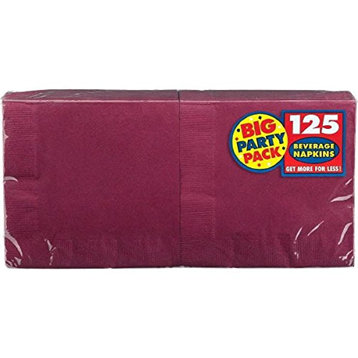 Big Party Pack Berry Red Beverage Napkins | Pack of 125 | Party Supply