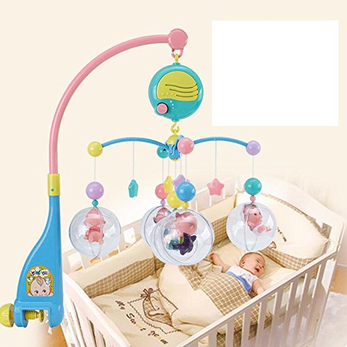 Jouets FEI Nouveau-né Bébé 0-1 Ans Bed Bell Baby Music Rotating Chevet de Bell Début Éducation (Couleur : B)