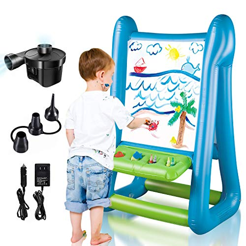 CIRO Double-Sided Inflatable Easel, Outdoor/Indoor Toys for Kids Ages 4-8, with Inflator and Paint for Young Artists, Gifts for Boys Girls Toddlers