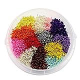 3744pcs(13colors 288pcs/color) 1mm Pearl Double Heads Flower Stamen Pistil (Mixed color 2)