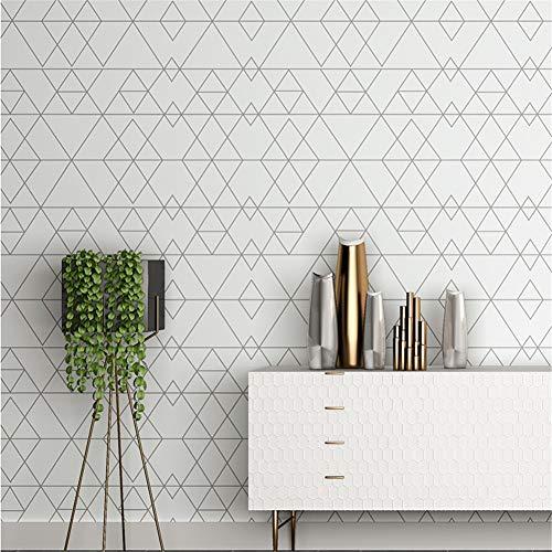 Tapeten Wallpaper Tapete Nordic Plaid Tapete Wohnzimmer Schlafzimmer TV Hintergrund Wandtapete Einfache Moderne Diamant Geometrie 0,53 * 10 CM