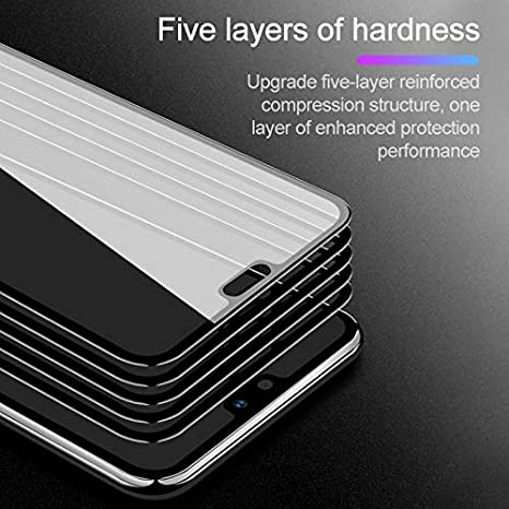 YSH Cell Phone Accessories 25 PCS Scratchproof 11D HD Full Glue Full Curved Screen Tempered Glass Film for Oppo F5 // Realme 1 Color : Black Black Screen Protector for Oppo