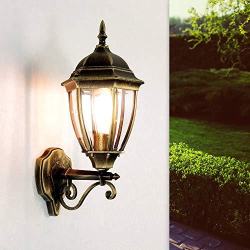 *Antike Wand-Energiespar-Außenleuchte 11 Watt IP44 aus Aluguss Außenlampe Wandleuchte Lampe Leuchte*