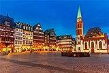 NUAYAYA 5D DIY Diamond Painting Plaza de la noche de Wurzburg Diamante pintura Kit lienzo artesanal bordado de punto de cruz para decoración de pared 40 x 50 cm