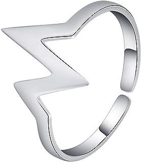 Lozse Anelli regolabili Onde di signora anello S925 argento anello di apertura