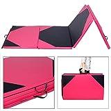 GYMAX 10Ft Folding Gymnastics Mat PU Soft Tumble Play Crash Safety Yoga Exercise Fitness Pilates Colorful...