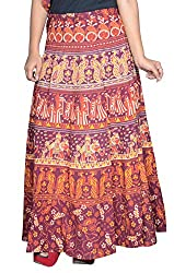 Pezzava Womens Wear Cotton Multi Long Skirt