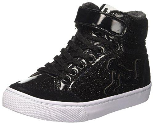 DrunknMunky Mädchen Boston Planet Hohe Sneaker, Schwarz (Black K49), 28 EU