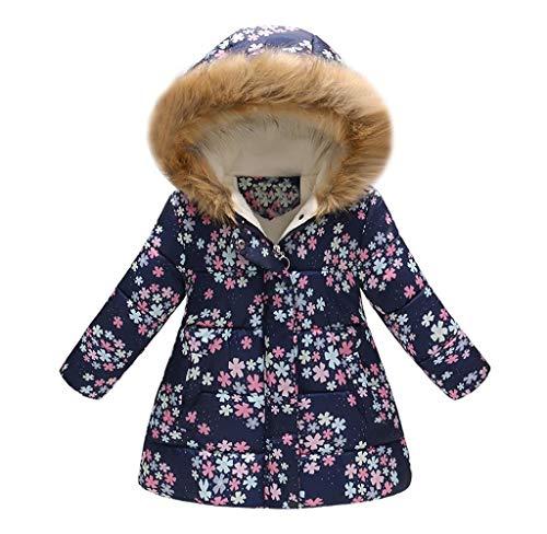 Jimmackey Giacca Bimba,Cappotti Bimba Invernali, Bambini Ragazze Cappotto di Leopardo Floreale Autunno Inverno Cappotti Caldo Giacche per 2-7 Anni - Cappotti e Giacche per Bambina