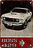 Mustang Boss 429 Metall Blechschild Retro Metall gemalt