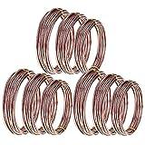 TOOGOO 9 Rollos Bonsai Wires Alambre de Entrenamiento...