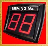 Myturn - Sistema Eliminacode Rojo, sin Cables, Radio inalámbrica, Kit Completo, Pantalla de Dos dígitos, Mando a Distancia, dispensador de Etiquetas