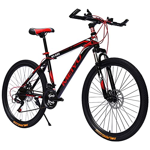 Mountain Bike with 26 Inch Wheels, Lightweight Aluminum Frame MTB Bicycle Men Bike with Dual Disc BrakesFor Adult Exercise Fitness Multiple Colours