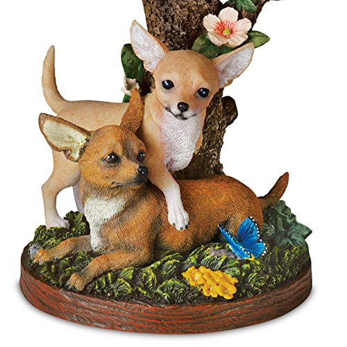 Linda Picken Darling Chihuahua Accent Table Lamp with Sculpted Chihuahuas Base by The Bradford Exchange
