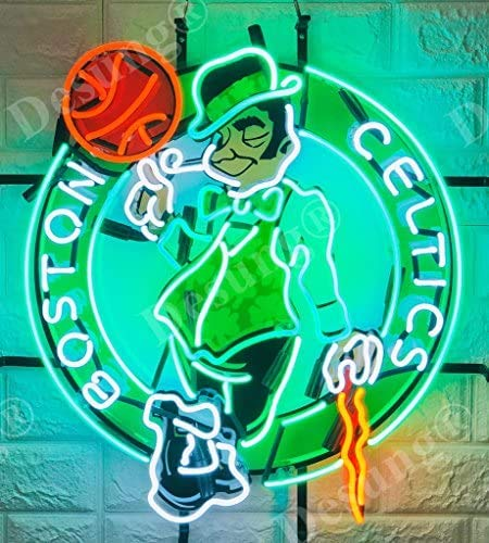 LeeQueen 24inx22in Boston Sports Team Celtic Logo Neon Sign Light (MultipleSizes) HD Vivid Printing Technology Man Cave Beer Bar Pub Handmade Real Glass Tube Lamp NT20