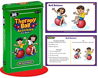 Super Duper Publications Therapy Ball Activities Fun Deck Flash Cards Educational Learning Resource for Children